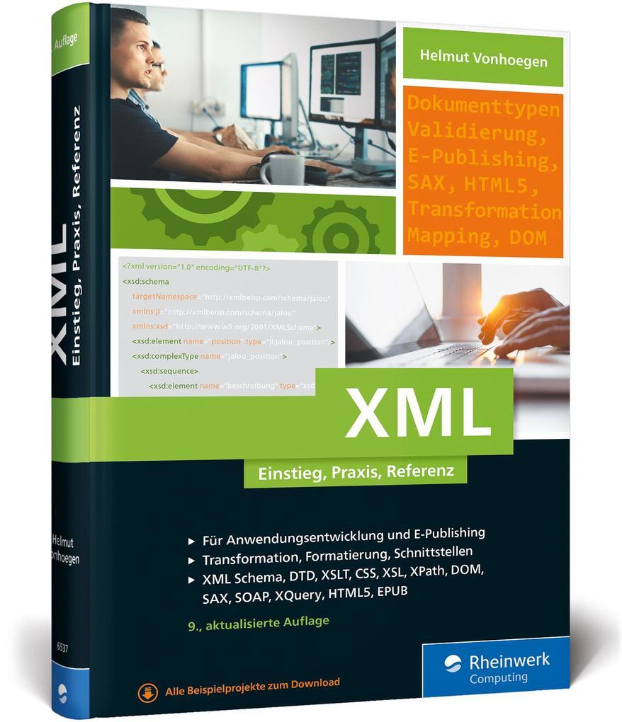 XML als Buch von Helmut Vonhoegen