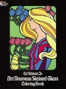 Art Nouveau Stained Glass Coloring Book