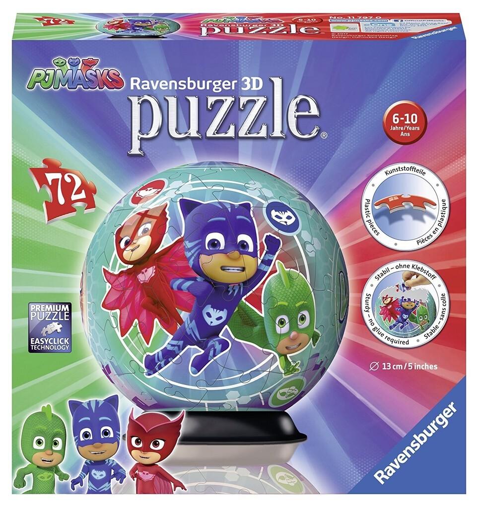 Ravensburger Spiel - 3D puzzleball - PJ Masks, ...