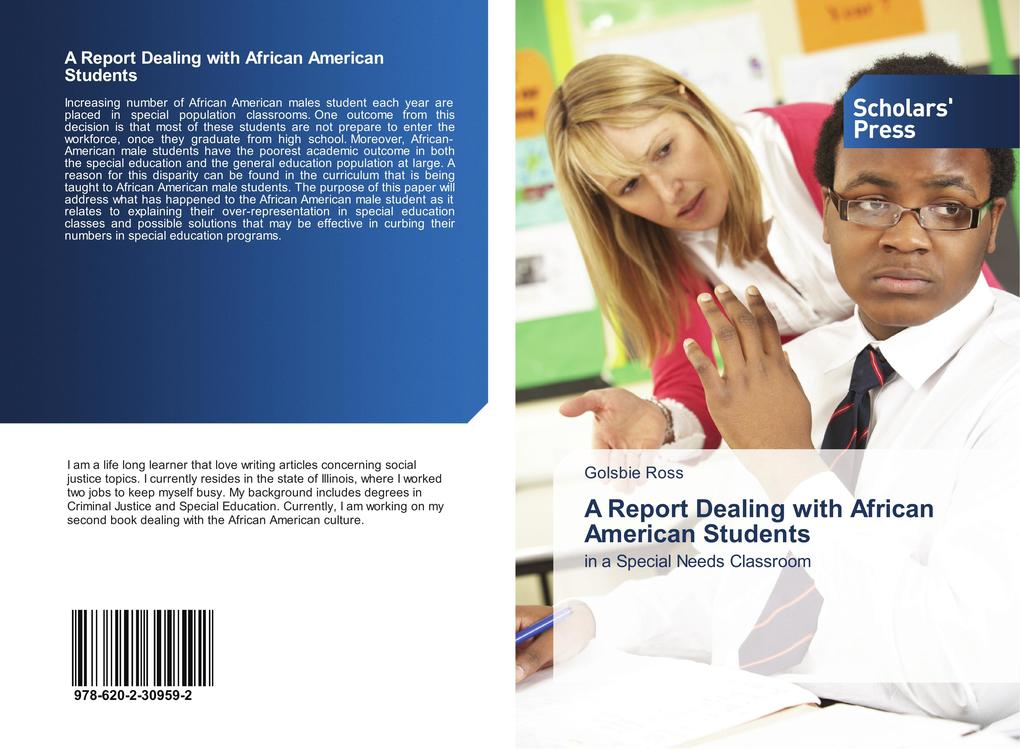 disproportionate representation of african american students in special education essay Representation of minority students in special education, evidenced in the literature, for over 30 years without solution (arnold & lassmann, 2003 connor & boskin, 2001 coutinho, oswald, & best, 2002.
