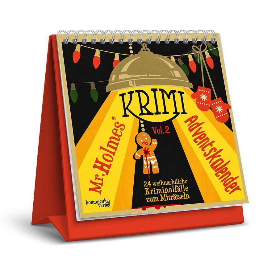Krimi Weihnachtskalender.Mr Holmes Krimi Adventskalender 2