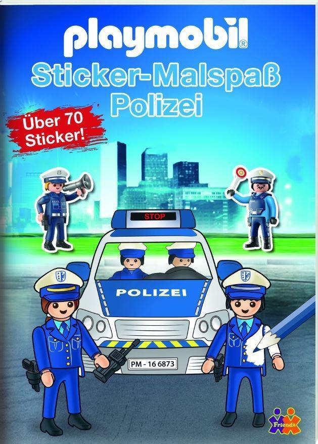 Playmobil Mein Sticker Malbuch Polizei Buch