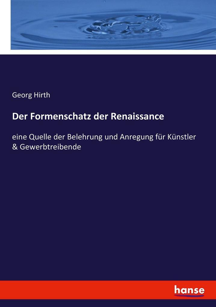 Der Formenschatz der Renaissance als Buch von G...