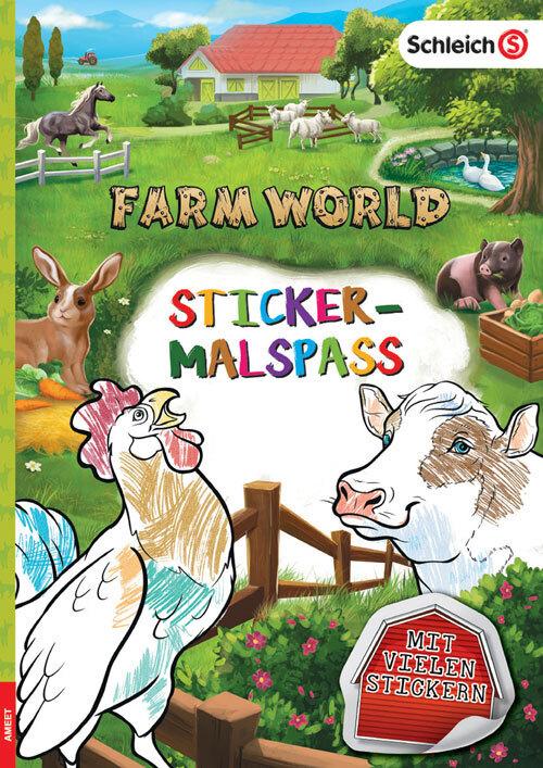 SCHLEICH® Farm World - Sticker-Malspaß als Buch