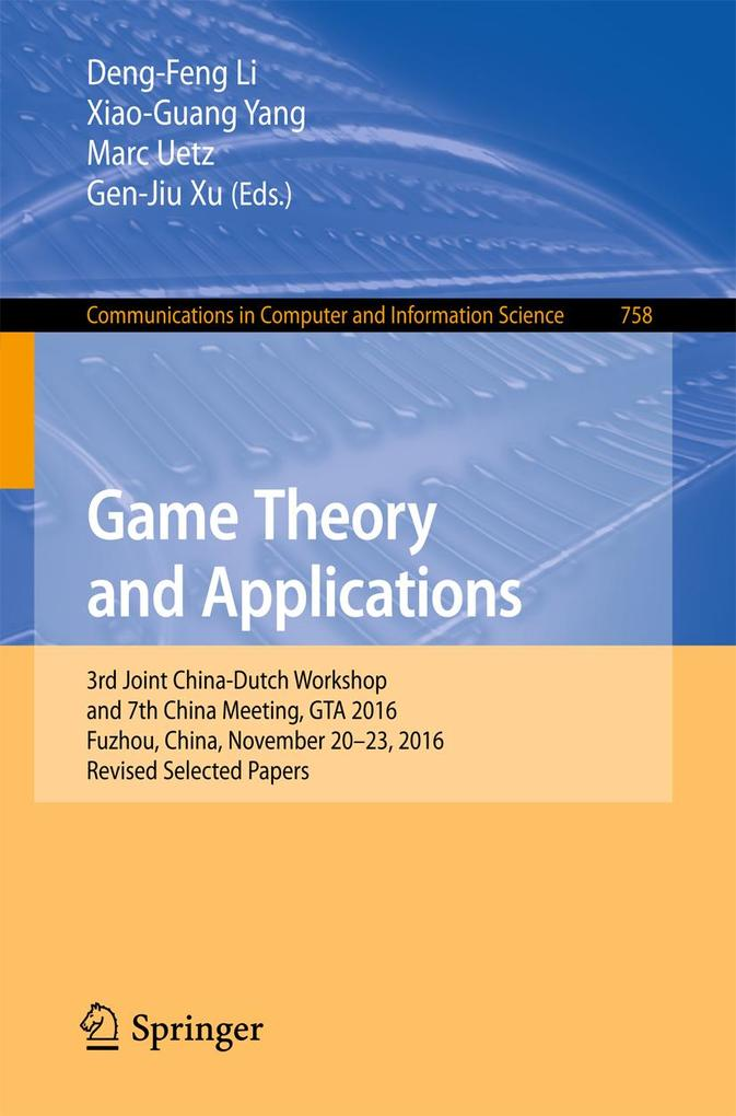 Game Theory and Applications als eBook Download...