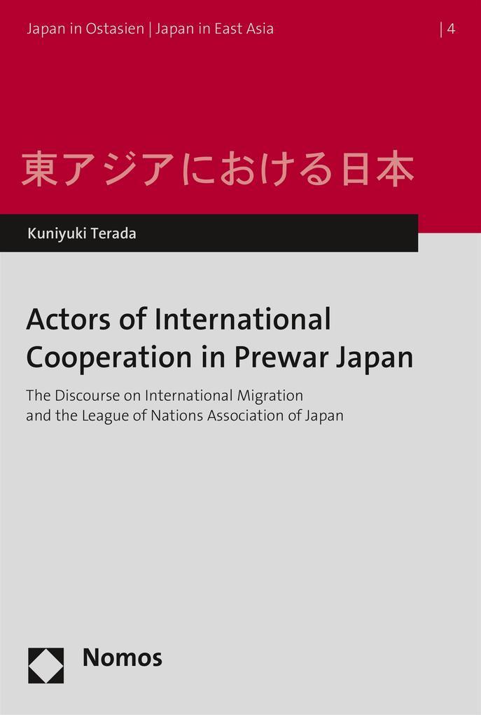 Actors of International Cooperation in Prewar J...