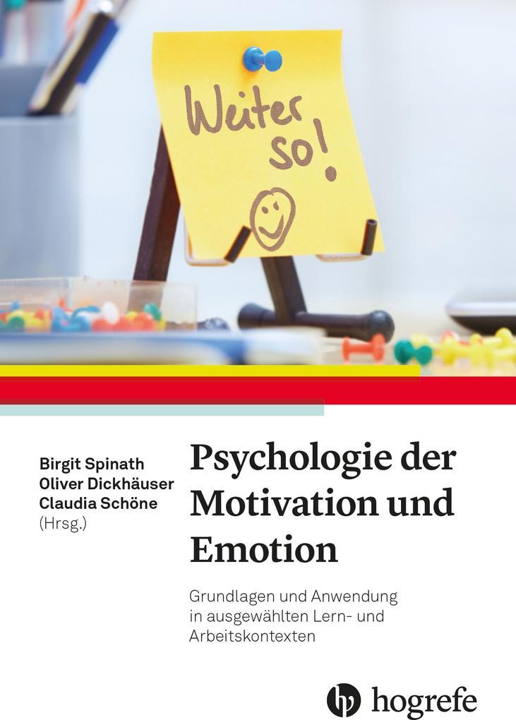 Psychologie der Motivation und Emotion als eBoo...
