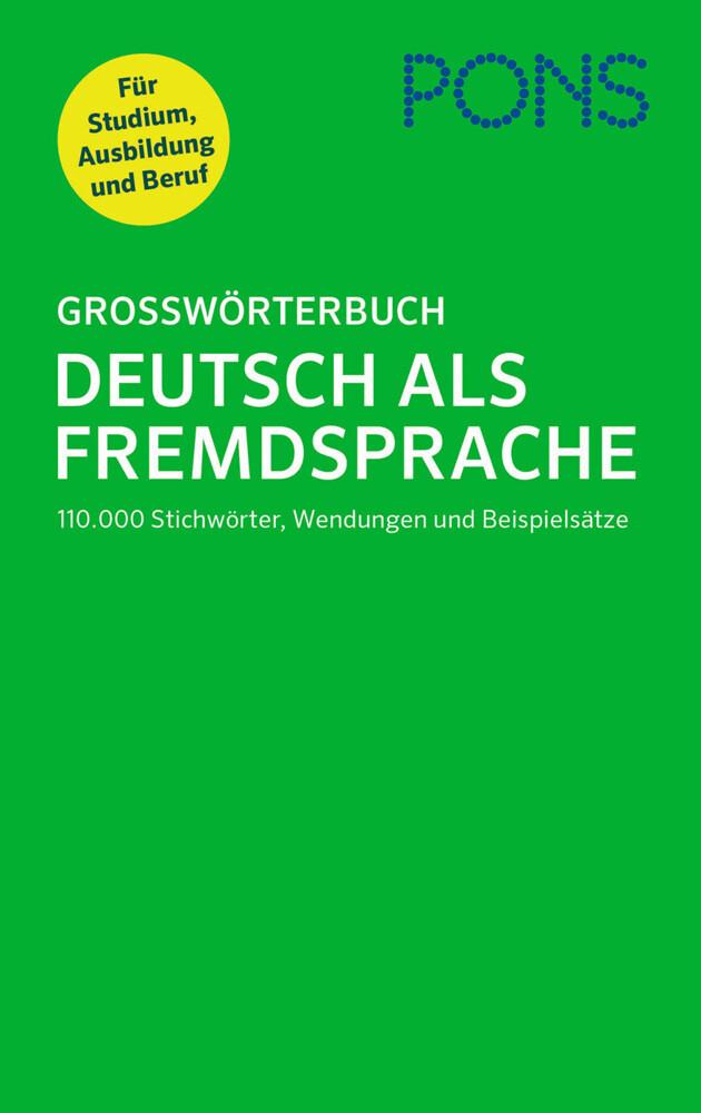 PONS Großwörterbuch Deutsch als Fremdsprache al...