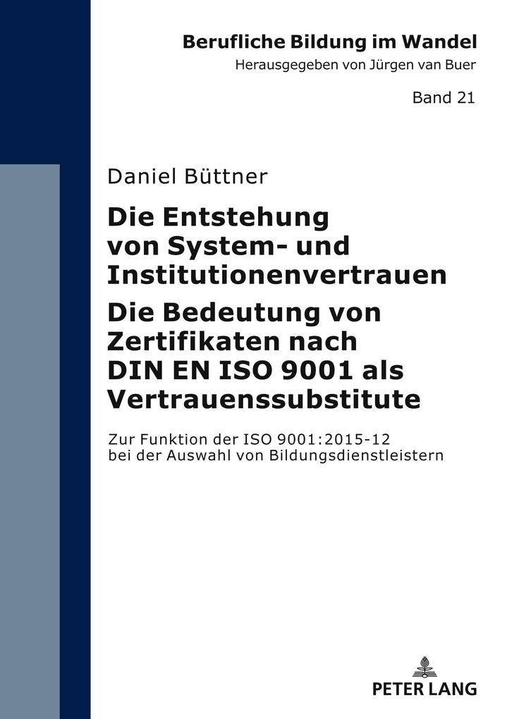 Die Entstehung von System- und Institutionenver...