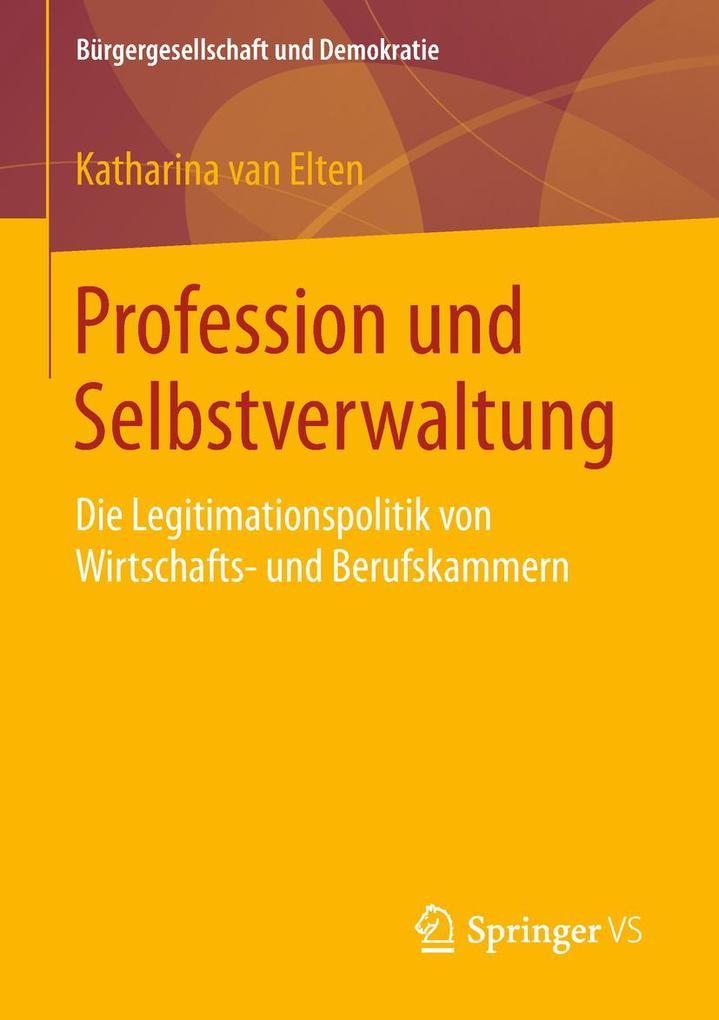 Profession und Selbstverwaltung als eBook Downl...