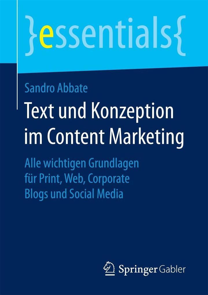 Text und Konzeption im Content Marketing als eB...