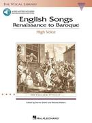 English Songs: Renaissance to Baroque: The Vocal Library High Voice [With 2 CDs]