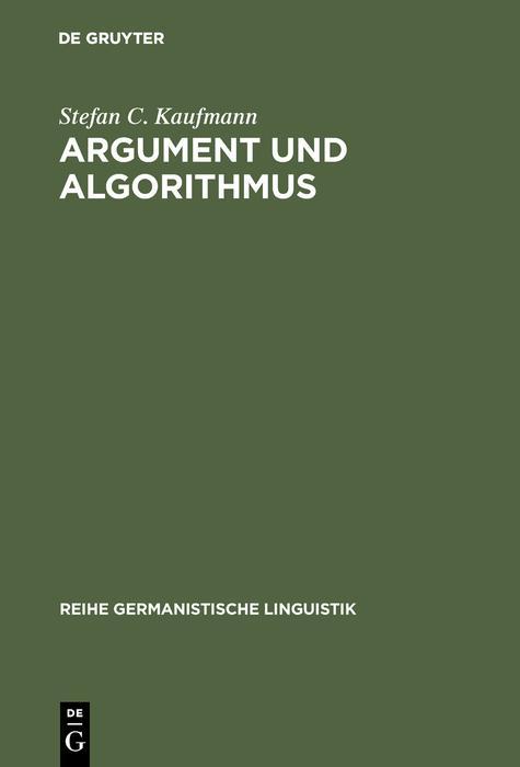 Argument und Algorithmus als eBook Download von...