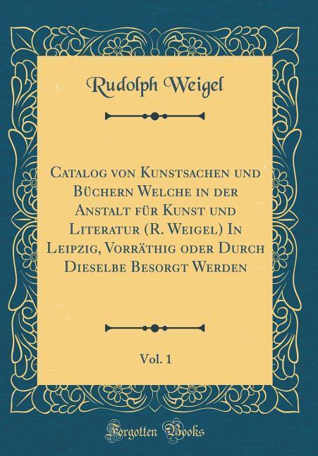 Catalog von Kunstsachen und Büchern Welche in d...