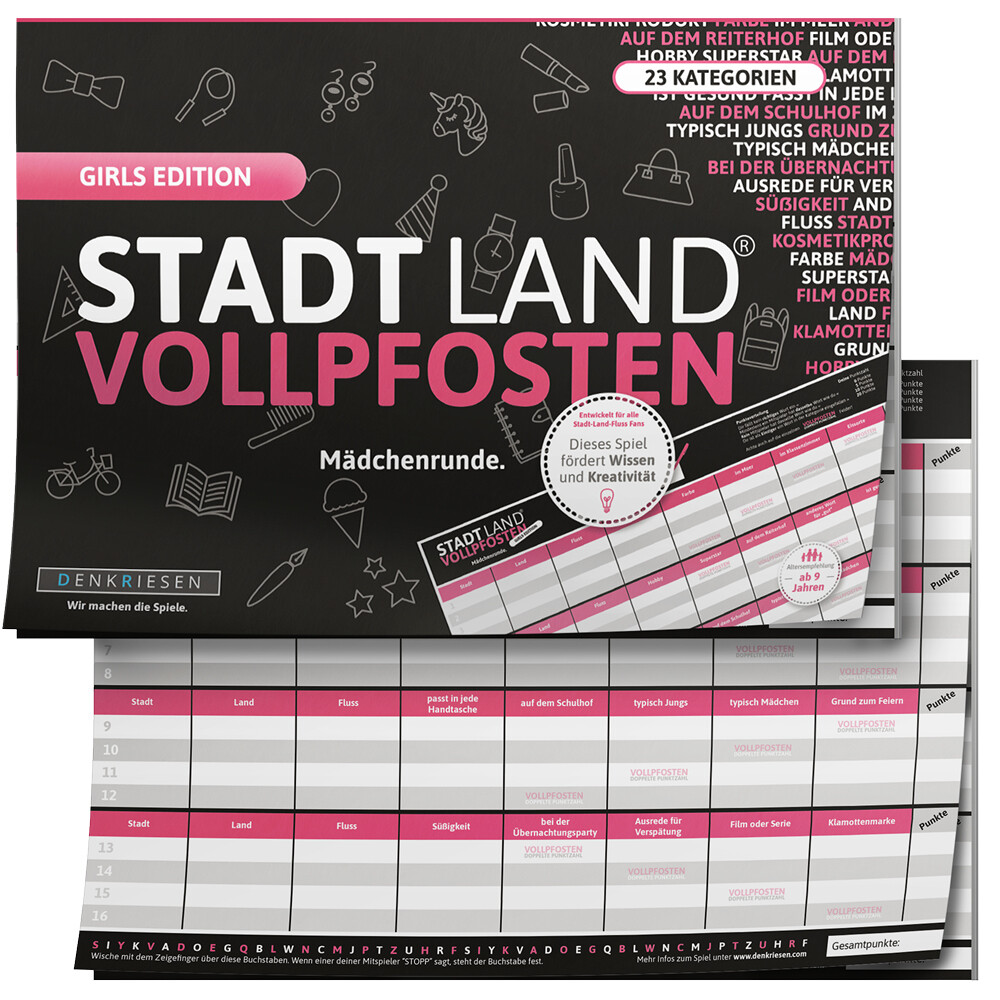 STADT LAND VOLLPFOSTEN® - GIRLS EDITION Mädchen...