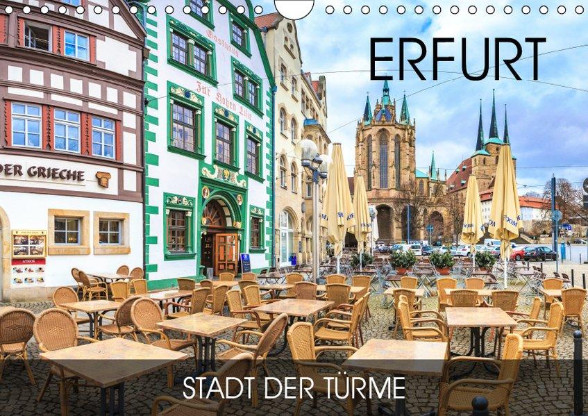 Erfurt - Stadt der Türme (Wandkalender 2019 DIN...