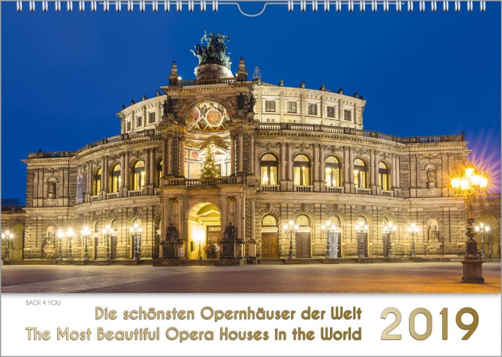 Opernhäuser - Musik-Kalender 2019, A3