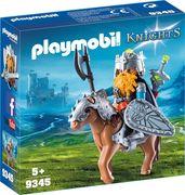 PLAYMOBIL 9345 - Knights - Zwergenangriff - Zwerg und Pony mit Rüstung