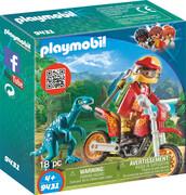 PLAYMOBIL 9431 - Action - The Explorers - Motocross Bike mit Raptor
