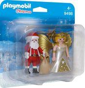 PLAYMOBIL 9498 - Duo Pack - Duo Pack Weihnachtsmann und Engel