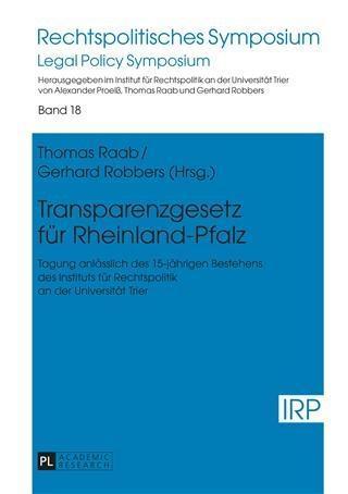 Transparenzgesetz fuer Rheinland-Pfalz als eBoo...