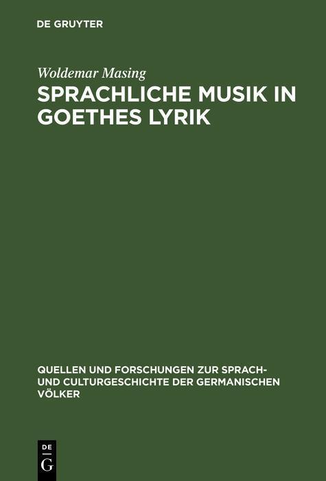 Sprachliche Musik in Goethes Lyrik als eBook Do...
