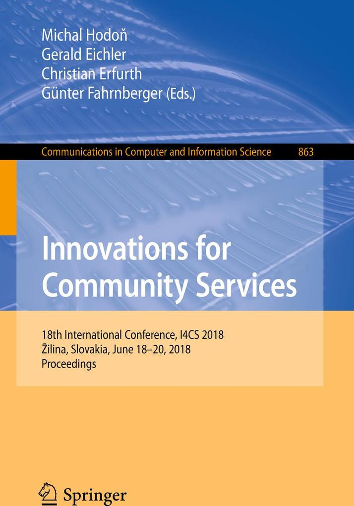 Innovations for Community Services als eBook Do...