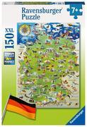 Meine Deutschlandkarte, Puzzle 150 Teile XXL