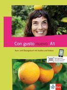 Con gusto nuevo A1. Kurs- und Übungsbuch + MP3-CD + DVD