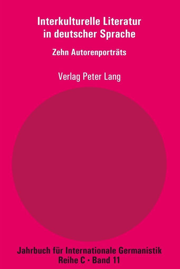 Interkulturelle Literatur in deutscher Sprache ...