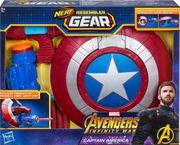 Hasbro E0567EU4 - Nerf, Avengers, Marvel Assembler Gear Captain America, Spielzeugblaster