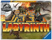 Ravensburger 26004 - Jurassic World Labyrinth, Brettspiel, Such und Schiebespiel