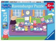 Peppa in der Schule Puzzle 2 x 24 Teile