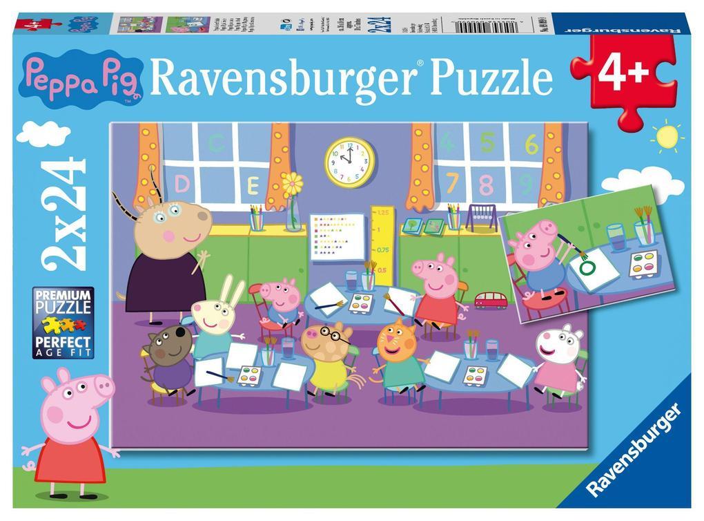 Geduldspiel Peppa in der Schule Puzzle 2 x 24 Teile Spiel Deutsch 2018