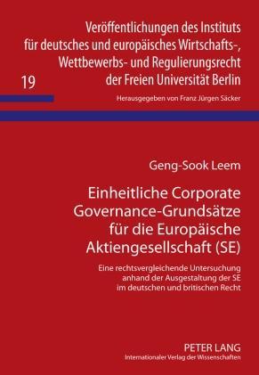 Einheitliche Corporate Governance-Grundsaetze f...