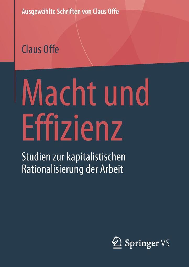 Macht und Effizienz als eBook Download von Clau...
