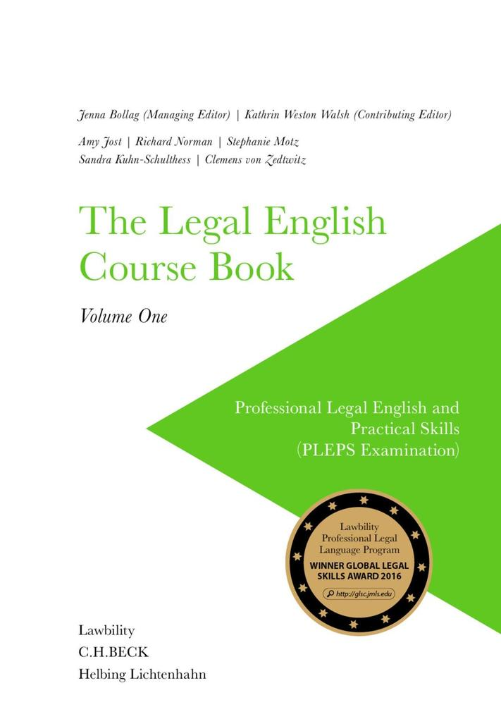 The Legal English Course Book Volume One als eB...