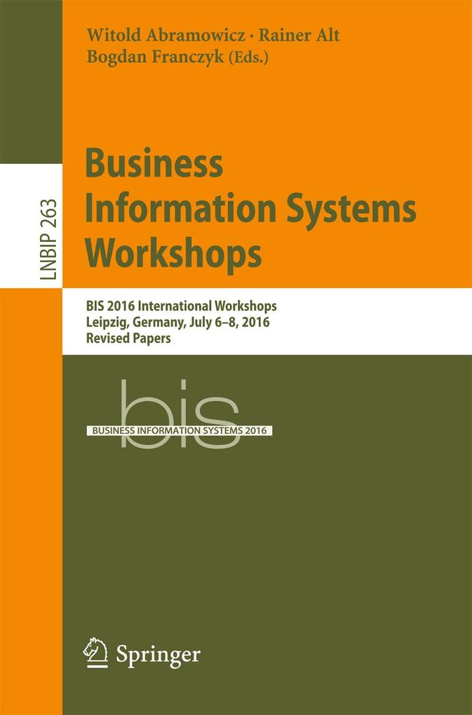 Business Information Systems Workshops als eBoo...