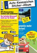 Kinder-Reisespiel KFZ-Kennzeichen Sticker-Sammelalbum fürs Handgepäck, Mitmachbuch für die Ferien, Ratespaß unterwegs auf Reisen, Beschäftigung für Kinder bei langen Autofahrten