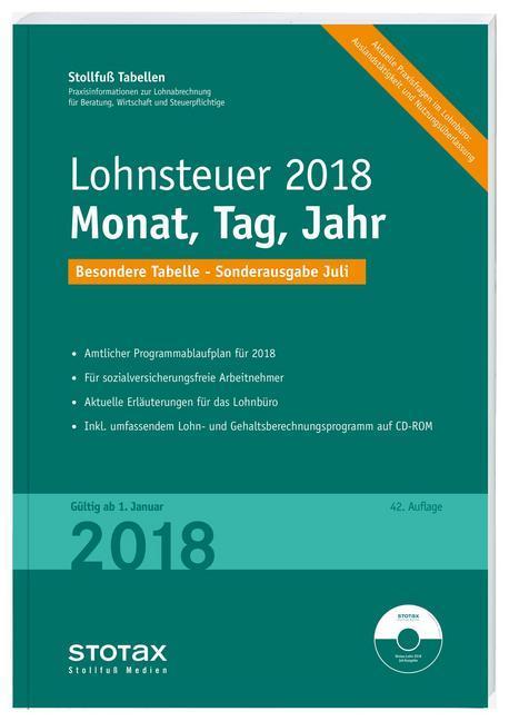 Tabelle, Lohnsteuer 2018 Monat, Tag, Jahr - Son...