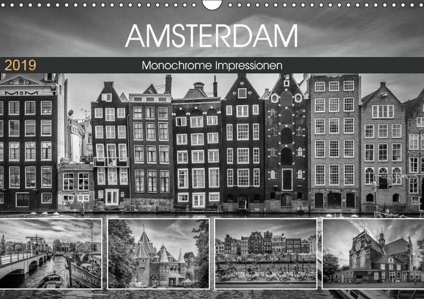 AMSTERDAM Monochrome Impressionen (Wandkalender 2019 DIN A3 quer) als Kalender