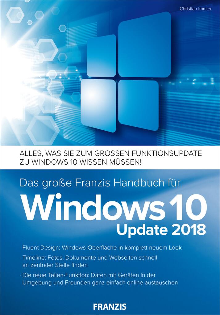Das große Franzis Handbuch für Windows 10 Updat...