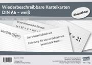 Wiederbeschreibbare Karteikarten DIN A6 - weiß