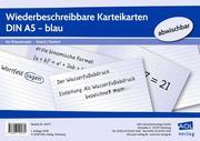 Wiederbeschreibbare Karteikarten DIN A5 - blau