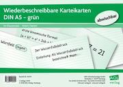 Wiederbeschreibbare Karteikarten DIN A5 - grün