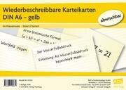 Wiederbeschreibbare Karteikarten DIN A6 - gelb