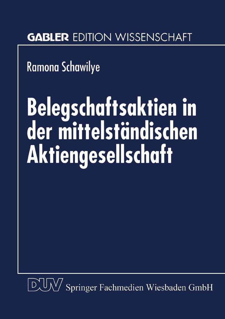 Belegschaftsaktien in der mittelstandischen Akt...