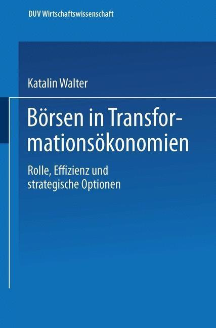 Borsen in Transformationsokonomien als eBook Do...