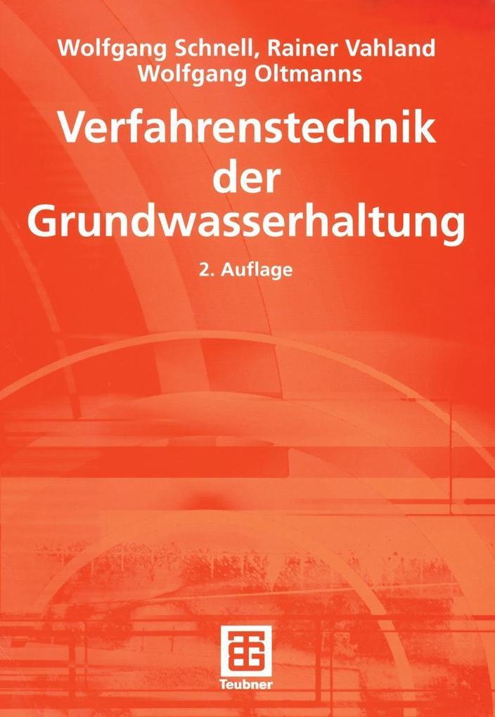Verfahrenstechnik der Grundwasserhaltung als eB...