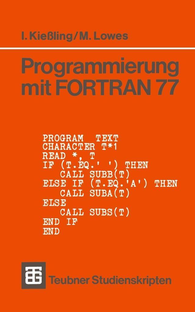 Programmierung mit FORTRAN 77 als eBook Downloa...